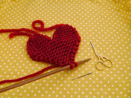 Knitted Heart Pattern Extraordinary Knitted Heart Pattern Knitting Crochet Blankets Pinterest