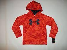 under armour youth hoodie. under armour youth boys big logo blaze orange hoodie sweatshirt size 6 new wtag under armour hoodie r