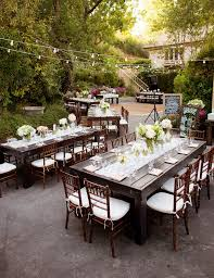 outdoor rustic chic wedding long table reception photography jeff youngren