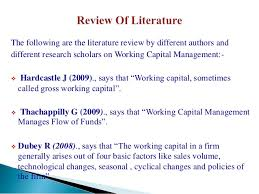 PROJECT ON WORKING CAPITAL MANAGEMENT Gold Training