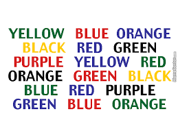Look At The Chart Above And Say The Color Of The Word By