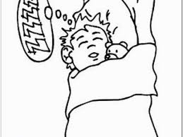 Child Sleeping Coloring Page 15 Pillow Clipart Coloring Page For