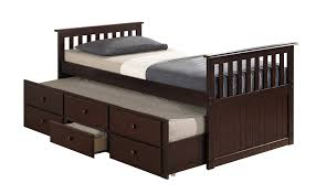 Amazon.com : Broyhill Kids Marco Island Captain's Bed with Trundle Bed and  Drawers, Twin, Black : Baby