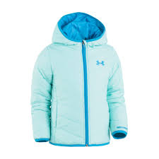 under armour jackets for girls. toddler girl under armour midweight blue premier puffer jacket jackets for girls c