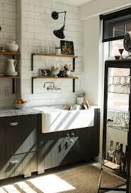 black plank cabinets vintage kitchen