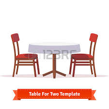 dining chair clipart. dining chair: dinner table for two with white cloth and red wooden chairs. flat chair clipart i
