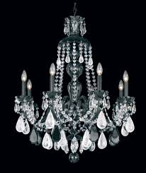 hamilton rock crystal 8 light 110v chandelier in silver with clear rock crystal