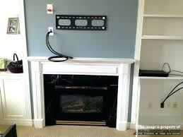 how to hide cable box player with wall mounted figure 1 put hiding for tv over fireplace