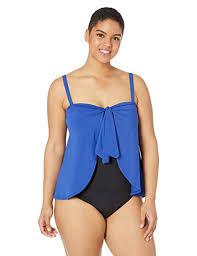 Chaps Swimwear Size Chart Chaps Womens Plus Size Draped Flyaway One Piece Swimsuit At