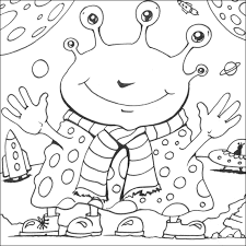 Small Picture Space coloring pages alien ColoringStar