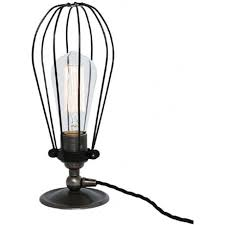 vox industrial retro style cage table lamp or desk light antique silver