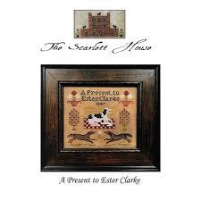 A Present To Ester Clarke Cross Stitch Pattern | The Scarlett House | Fat  Quarter Shop
