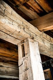 barn beams oak wood rough cut and hand hewn long reclaimed from a 1920 barn in indiana by reclaimedbarnsbeams on