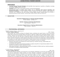 Physical Therapy Aide Resume Cover Letter Examples Of Physical Therapy Aide Resume With No 18