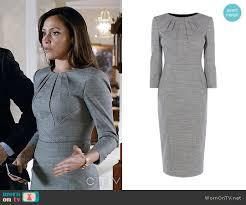 Emily's grey pleated neck dress on Designated Survivor   Tailored dress,  Pleated neck dress, Fashion tv