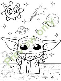 Select from 35450 printable crafts of cartoons, nature, animals, bible and many more. 2 Baby Yoda Coloring Page Etsy
