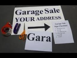 Yard Sale Signs Ideas Garage Sale Sign How To Make A Homemade Garage Sale Sign Guide