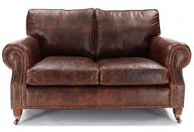 hepburn shab chic vintage leather small 2 seater sofa shab regarding old leather sofa