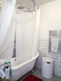 shower over freestanding bath luxury bathroom free standing bath shower curtain emphasize the