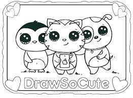 Cute Coloring Pages Animals Cute Coloring Sheets Really Cute