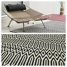 black and white geometric rug. geometric black and white rug plantation company
