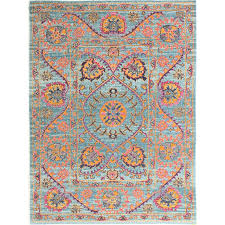 bungalow rose ashburn blue area rug reviews wayfair for orange and prepare 19