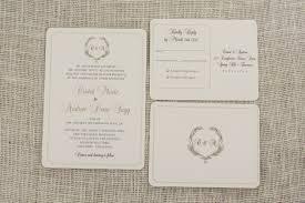 Photo Invitation Postcards Greenery Wreath Monogram 5x7 Weddin Invitation Classic Gold Script With Rsvp Postcard Te1