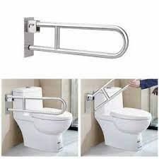 Handicap Rails Bathroom Toilet Handrails Folding Grab Bar Safety Rail Ebay