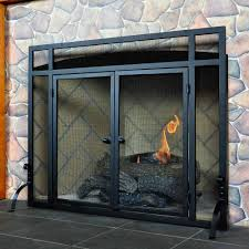 Pleasant Hearth Ascot Large Glass Fireplace Doors  Glass Home Depot Fireplace Doors