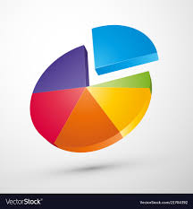 Colorful 3d Pie Chart Icon