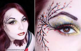sweet looking fall fairy makeup