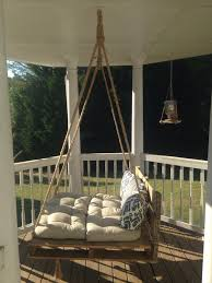 repurposed pallet bed swing
