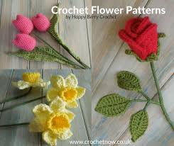 Free Crochet Flower Patterns Inspiration Free Crochet Flower Patterns Crochet Now