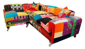 attractive multi colored sofa design