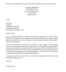 Marketing Cover Letter Sample By Randal Johnson Sample Marketing