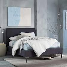 dark grey upholstered bed. Beautiful Upholstered On Dark Grey Upholstered Bed