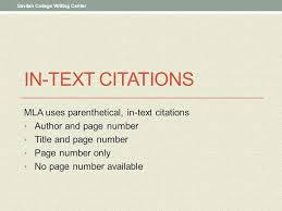 Mla format ppt KCTCS eLearning