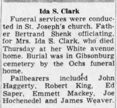 Ida Weaver Clark funeral - Newspapers.com