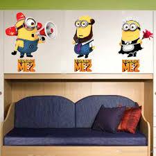 Minions Wallpaper For Bedroom Cute Cartoon Minions Wall Art Decal Sticker Home Art Decoration