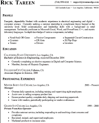 Computer Science Resume Sample Work Experience