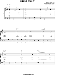 Digital print sheet music edition professionally arranged by makingmusicfun.net staff. Silent Night Sheet Music Christmas Carol Sheetmusic Free Com