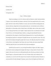 example of purple hibiscus essay in the novel purple hibiscus chimamanda ngozi adichie uses character