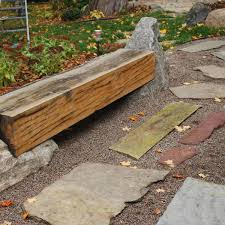 flagstone and pea gravel patio