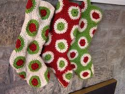 Free Christmas Crochet Patterns Custom Ravelry Polka Dot Christmas Stocking Pattern By Priscilla Hewitt