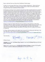 Registered Letter To Chief Appeals Officer Dated November 2nd 2011