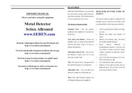 Treasure Hunter Md 3030 Owners Manual Metal Detector Seben Allround