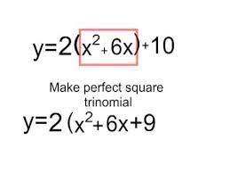 converting standard to vertex form