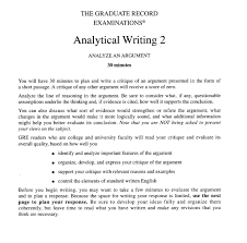 Analytical Response Essay Gre Sample Essay Responses Isb Sample Essays