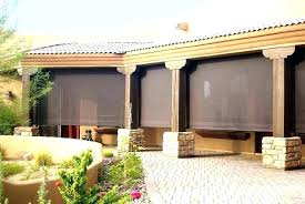 outdoor bamboo shades