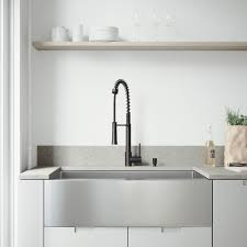 stainless steel apron sink. VIGO AllinOne Farmhouse Stainless Steel 36 In Single Bowl Kitchen Sink And Apron